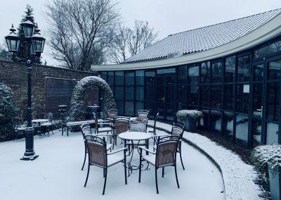 terras sneeuw